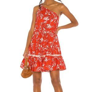 free people boho one shoulder dress